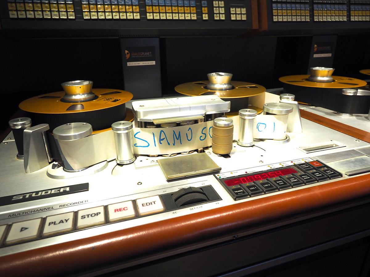 Studer A820 tape digitization Vasco Rossi 24 tracks